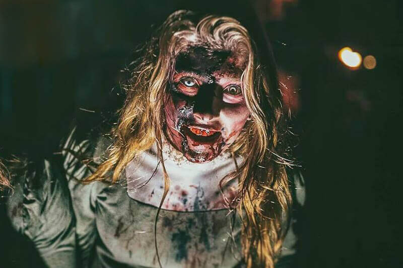 Field of Screams haunted house in Rhode Island scary blood face ghost girl