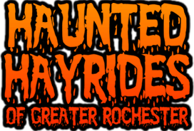 Haunted Hayrides of Great Rochester haunted house in New York logo